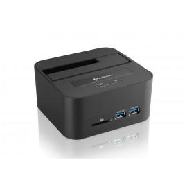 Sharkoon QuickPort XT HC PRO USB 3.1 (3.1 Gen 2) Type-B Negro 4044951020089
