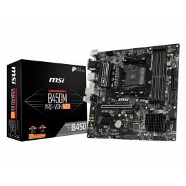 MSI B450M PRO-VDH Max placa base Zócalo AM4 Micro ATX AMD B450