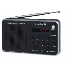 Sunstech Portable digital AM/FM radio silver Portátil Analógica Negro, Plata RPDS32SL