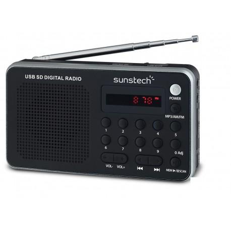 Sunstech Portable digital AM/FM radio silver Portátil Analógica Negro, Plata RPDS32SL