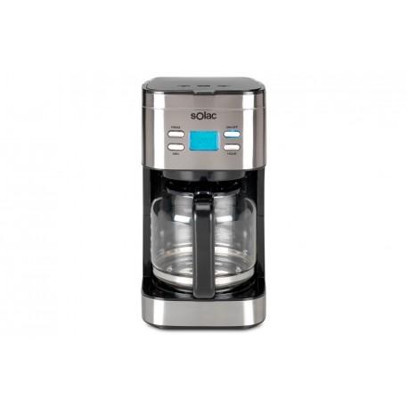 Solac CF4028 Independiente Cafetera de filtro Negro, Acero inoxidable 1,5 L 15 tazas Semi-automática S92010300