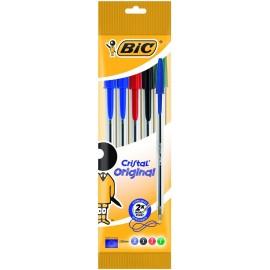 BIC 802054 Stick ballpoint pen Negro, Azul, Verde, Rojo 5pieza(s) bolígrafo 802054