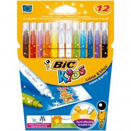 BIC Colour & Erase Negro, Azul, Verde, Lila, Naranja, Rosa, Rojo, Amarillo rotulador 880510
