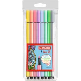 Stabilo Pen 68 8er Medio Multicolor 8pieza(s) rotulador 68/8-01
