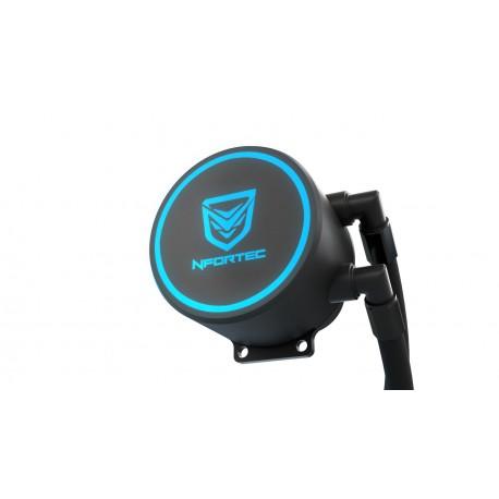 Nfortec Hydrus V2 Refrigeración Líquida 120mm con Ventilador LED Red de 120mm
