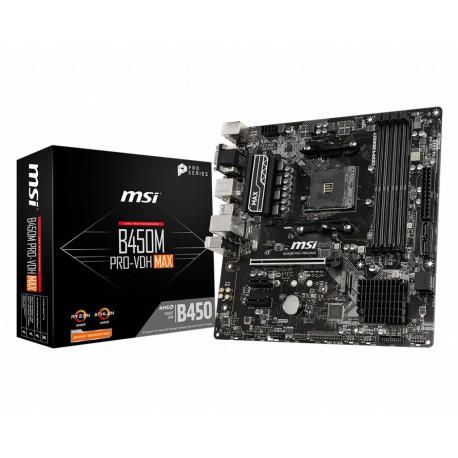 MSI B450M PRO-VDH Max placa base Zócalo AM4 Micro ATX AMD B450 7A38-043R