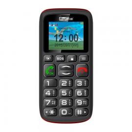 MaxCom MM428 1.8'' 78g Negro, Rojo Teléfono para personas mayores