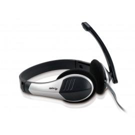 Equip 245300 auricular con micrófono Binaural Diadema Negro, Plata