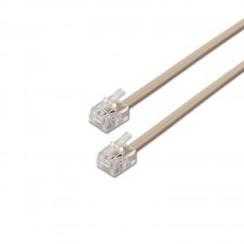 AISENS A143-0317 cable telefónico 2 m Gris