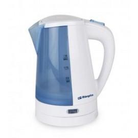 Orbegozo KT 5010 1L 2200W Azul, Color blanco tetera eléctrica
