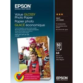 Epson Value Glossy Photo Paper A4 (210×297 mm) Brillo Multicolor C13S400036