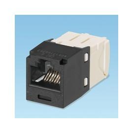 Panduit UTP RJ45 TG-MiniJack kat 6 Negro, Color blanco adaptador de cable CJ688TGBL