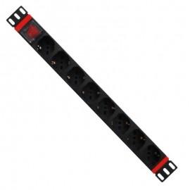 WP WPN-PDU-C01-08 unidad de distribución de energía (PDU) 1U Negro, Rojo 8 salidas AC wpn-pdu-c01-08