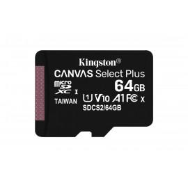 Kingston Technology Canvas Select Plus memoria flash 64 GB MicroSDXC Clase 10 UHS-I SDCS2/64GBSP