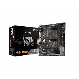 MSI A320M-A PRO M2 placa base Zócalo AM4 Micro ATX AMD A320 911-7C52-003
