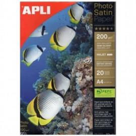 APLI 04453 papel fotográfico Blanco Semi-brillo A4 04453