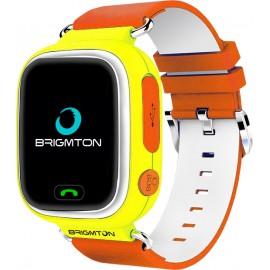 Brigmton BWATCH-KIDS-Y reloj inteligente Naranja, Blanco, Amarillo LCD  (1.22'') Móvil GPS (satélite) BWATCH-KIDS-Y