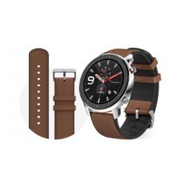 Amazfit GTR 47mm reloj inteligente Marrón, Acero inoxidable AMOLED 3,53 cm (1.39'') GPS (satélite) A1902STAINLESS