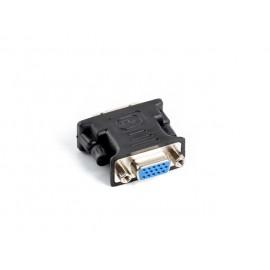 Lanberg adaptador de cable de vídeo DVI-I VGA (D-Sub) Negro ad-0012-bk