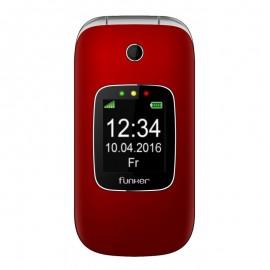 Funker C85 6,1 cm (2.4'') 85 g Rojo Teléfono básico C85R