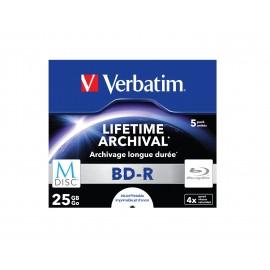 Verbatim M-Disc 4x BD-R 25GB 5pieza(s) 43823