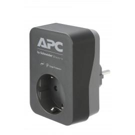APC PME1WB-GR limitador de tensión 1 salidas AC 230 V Negro, Gris