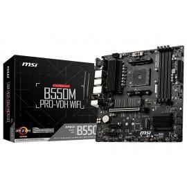 MSI B550M PRO-VDH WIFI Zócalo AM4 Micro ATX AMD B550 - 7C95-001R