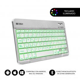 SUBBLIM Teclado Retroiluminado Smart Backlit BT Keyboard Grey - sub-kbt-smbl30
