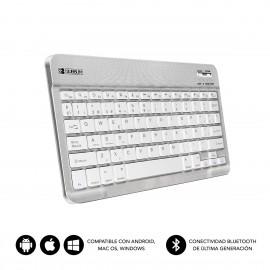 SUBBLIM Teclado Bluetooth Smart BT Keyboard Silver - sub-kbt-sm0001