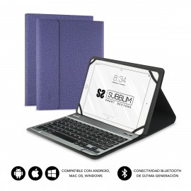 SUBBLIM Funda con Teclado KEYTAB PRO BLUETOOTH 10,1'' Purple - sub-kt2-bt0004