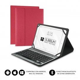 SUBBLIM Funda con Teclado KEYTAB PRO BLUETOOTH 10,1'' Red - sub-kt2-bt0003