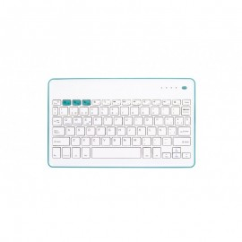 SilverHT 111936640199 Bluetooth/Micro-USB Azul, Blanco teclado para móvil