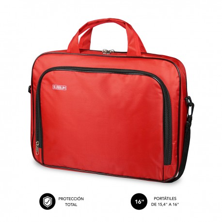 SUBBLIM Maletín Ordenador Oxford Laptop Bag 15,4-16'' Red - sub-lb-1olb052