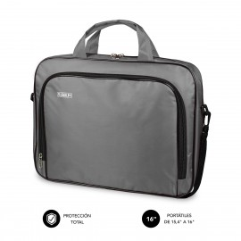 SUBBLIM Maletín Ordenador Oxford Laptop Bag 15,4-16'' Grey - sub-lb-1olb051