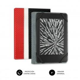 SUBBLIM Funda Libro Electrónico Clever Ebook Case 6'' Black