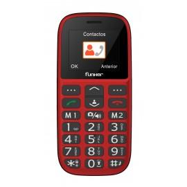 Funker C65 EASY PLUS 1.8'' Teléfono para personas mayores Rojo  c65r