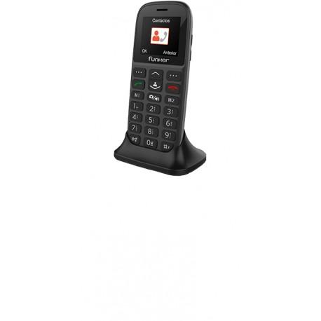 Funker C65 EASY PLUS 1.8'' Teléfono para personas mayores Negro c65bl