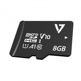 V7 Tarjeta Micro-SDHC Clase 10 de 8GB + adaptador - VPMSDH8GC10