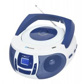 Nevir NVR-481UB Reproductor de CD portátil Azul, Blanco - NVR418UBAZULWH