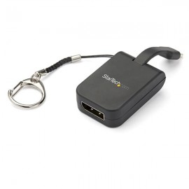 StarTech.com Adaptador Portátil USB-C a DisplayPort con Llavero de Conexión Rápida CDP2DPFC