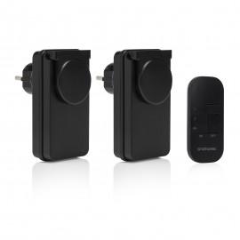Smartwares SH4-99650 Set de interruptores para exterior Negro