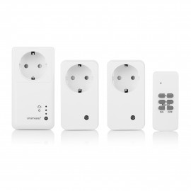 Smartwares 10.043.82 Set enchufe Smart de interior set SH5-SET-GW Blanco