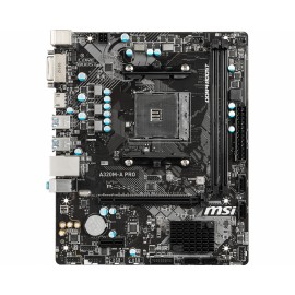 MSI A320M-A PRO placa base Zócalo AM4 Micro ATX AMD A320 - 911-7C51-001