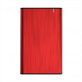 AISENS Caja Externa 2,5'' ASE-2525RED 9.5mm SATA a USB 3.0/USB3.1 Gen1, Rojo