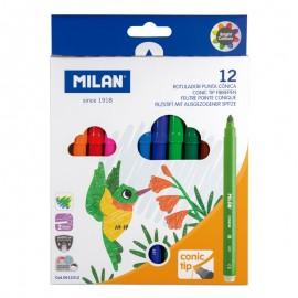 Milan 0612312 rotulador Multicolor 12 pieza(s)