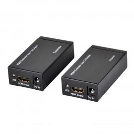 Ewent EW3715 extensor audio/video Transmisor y receptor de señales AV Negro