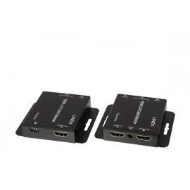 Lindy 38144 extensor audio/video Transmisor y receptor de señales AV Negro