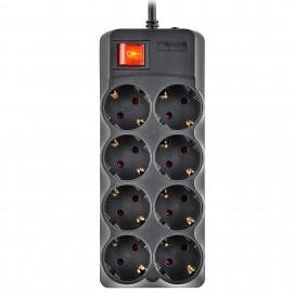 NGS SURGE POLE 800 Negro 8 salidas AC 250 V 1,5 m - SURGEPROTEC-0031