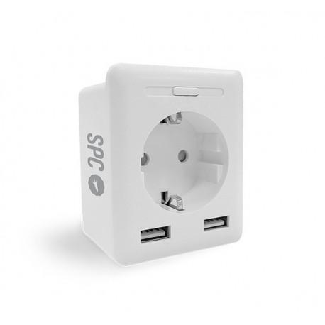 SPC CLEVER PLUG USB enchufe inteligente 2300 W Blanco - 6207b