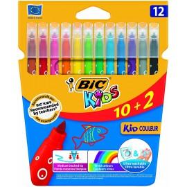 BIC Kid Couleur rotulador Medio Multicolor 12 pieza(s) - 9202942